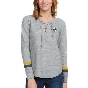 Packers Gray Team Logo Thermal Size M